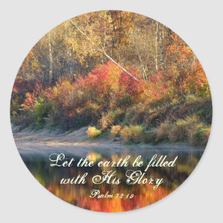 Psalm 72:19 Bible Verse God's Glory Stickers