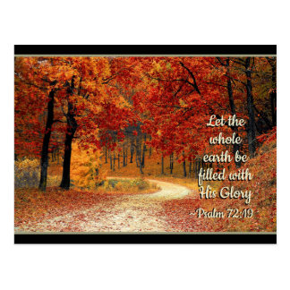 Psalm 72:19 Let the Earth be Filled with His Glory Postcard