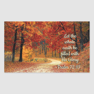 Psalm 72:19 Let the Earth be Filled with His Glory Sticker