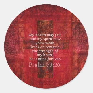 Psalm 73:26 Inspirational BIBLE verse Classic Round Sticker
