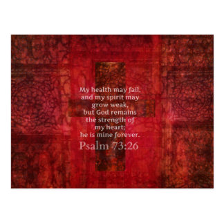 Psalm 73:26 Inspirational BIBLE verse Postcard