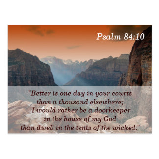 Psalm 84:10 Scripture Memory Card Postcard