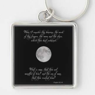 Psalm 8, verses 3 and 4 and the full moon keychain