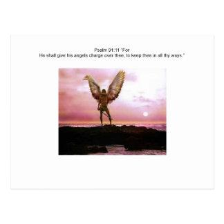 Psalm 91:11...angelwarriors postcard