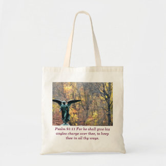 Psalm 91:11 angle in autumn woods bag