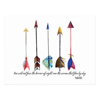 Psalm 91 Arrow Postcard