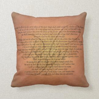 Psalm 91 Bible Verse Throw Pillow