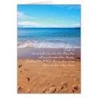 Psalm 91 , sandy beach card