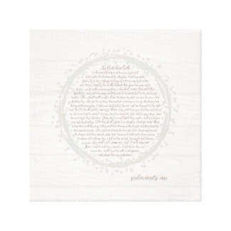Psalm 91 Scripture Wall Art Canvas
