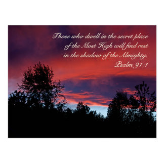 Psalm 91 Those who dwell in the secret place, Postcard