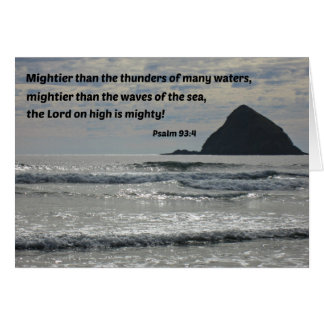 Psalm 93:4 Mightier than the thunders... Card