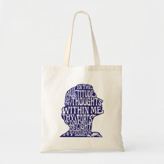 Psalm 94:19: God's Comfort Tote Bag Blue Drawing