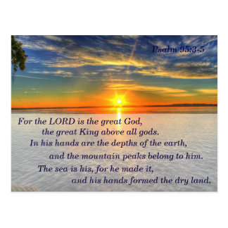 Psalm 95:3-5 Christian Scripture Memory Card Postcard