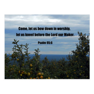 Psalm 95:6 postcard