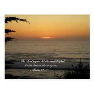 Psalm 97 postcard