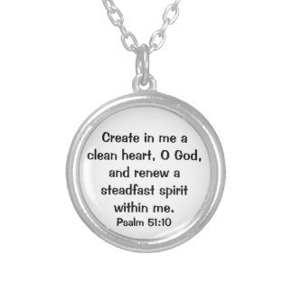 Psalm Bible Verse Necklace