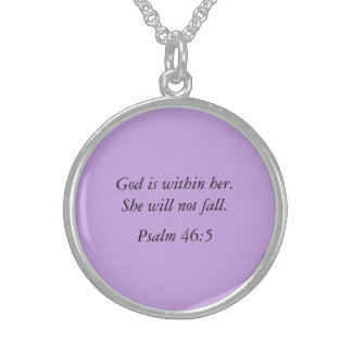 Psalm Bible Verse Silver Necklace Jewelry