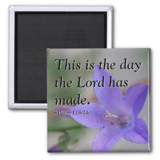 Psalm Flower Magnet