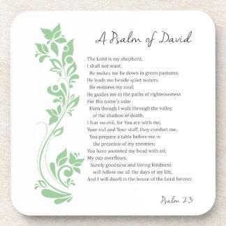 Psalm of David The Lord is my Shepherd Bible Verse Coaster