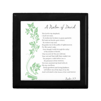 Psalm of David The Lord is my Shepherd Bible Verse Gift Box