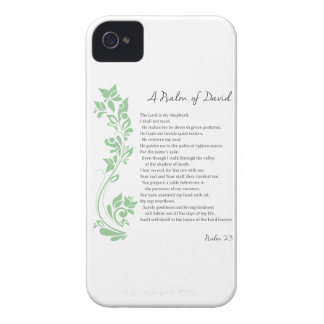 Psalm of David The Lord is my Shepherd Bible Verse iPhone 4 Case-Mate Case