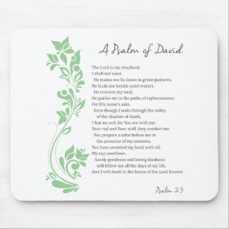 Psalm of David The Lord is my Shepherd Bible Verse Mouse Pad