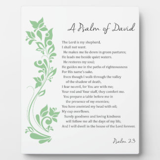Psalm of David The Lord is my Shepherd Bible Verse Plaque