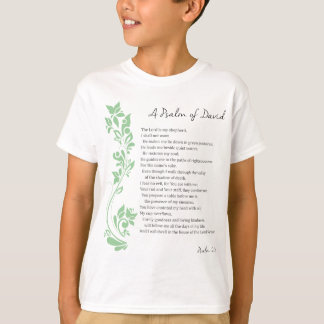 Psalm of David The Lord is my Shepherd Bible Verse T-Shirt