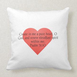 Psalm Scripture Throw Pillow