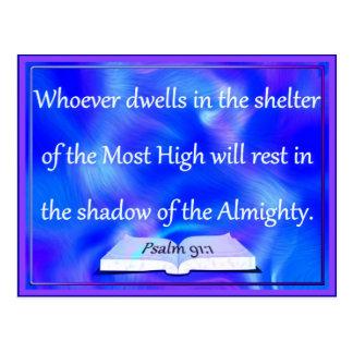Psalmist' shelter postcard