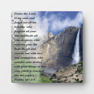 Psalms 103:2-5 plaque