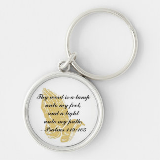 Psalms 119:105 Keychain