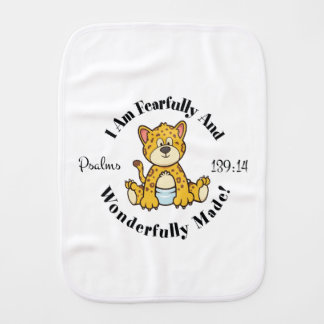Psalms 139:14 Design Burp Cloth