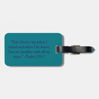 Psalms 139:4 Luggage Tag