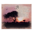Psalms 1:1-3 Blessed is the man - Encouragement Poster