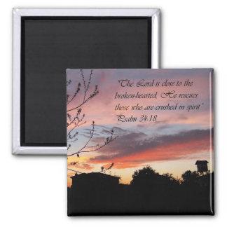 Psalms 24:18 Psalm of Encouragement Fridge Magnet