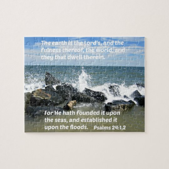 Psalms 24:1,2 The earth is the Lord's and the Jigsaw Puzzle