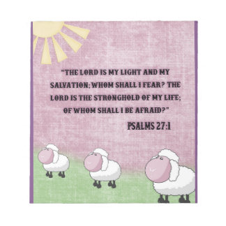 Psalms 27:1 notepad