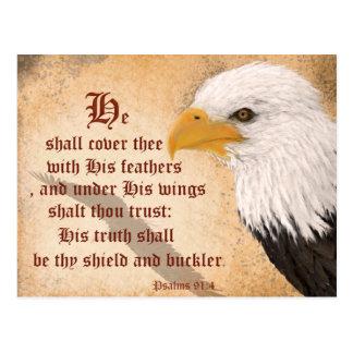 Psalms 91:4 postcard