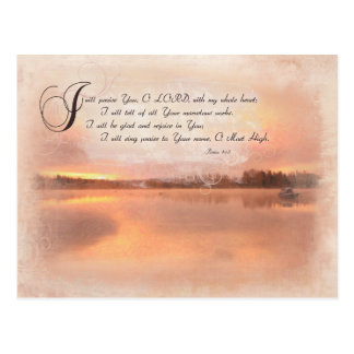 Psalms 9:1-2 - I will Praise The Lord with my Postcard
