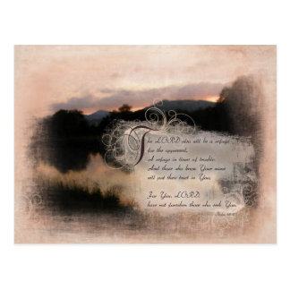 Psalms Bible Verse Encouragement Gifts Postcard
