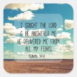 Psalms Bible Verse Square Sticker