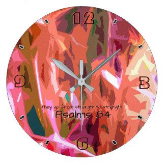 Psalms chapter 84 -93 large clock