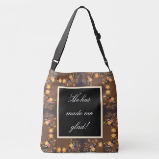 Psalms Jesus makes Me Glad Flowers Heade Tote Bag