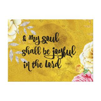 Psalms Joy Bible Verse Canvas Print