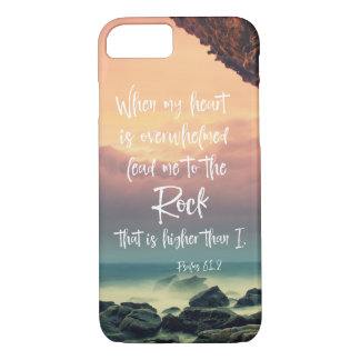 Psalms Lead me to the Rock Bible Verse Case-Mate iPhone Case