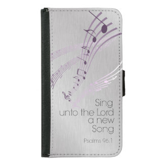 Psalms: Sing unto the Lord a new Song Samsung Galaxy S5 Wallet Case