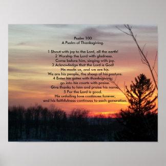 Psaume 100   un psaume de thanksgiving poster