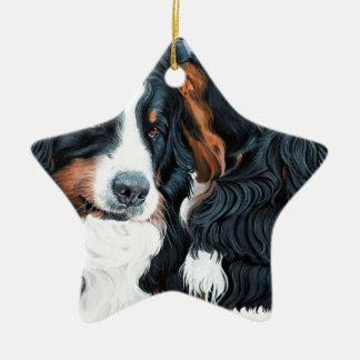 Psssst Ceramic Star Ornament