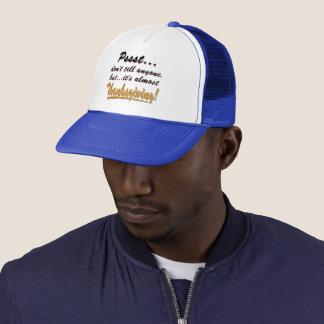 Pssst...almost THANKSGIVING (blk) Trucker Hat